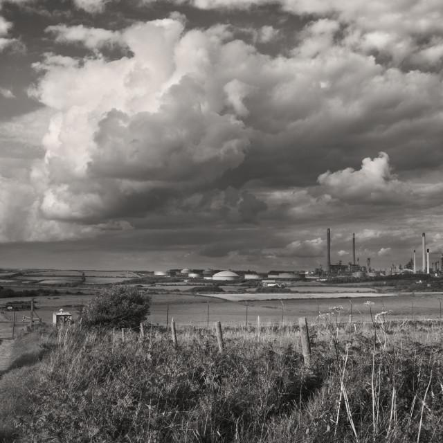 """""""Valero Refinery, Pembroke"""" stock image"""