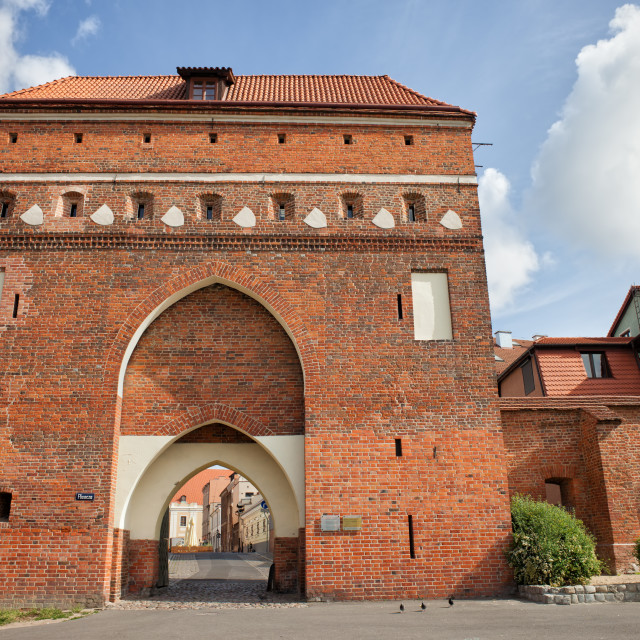 """""""Cloister Gate in Torun Medieval Fortification"""" stock image"""