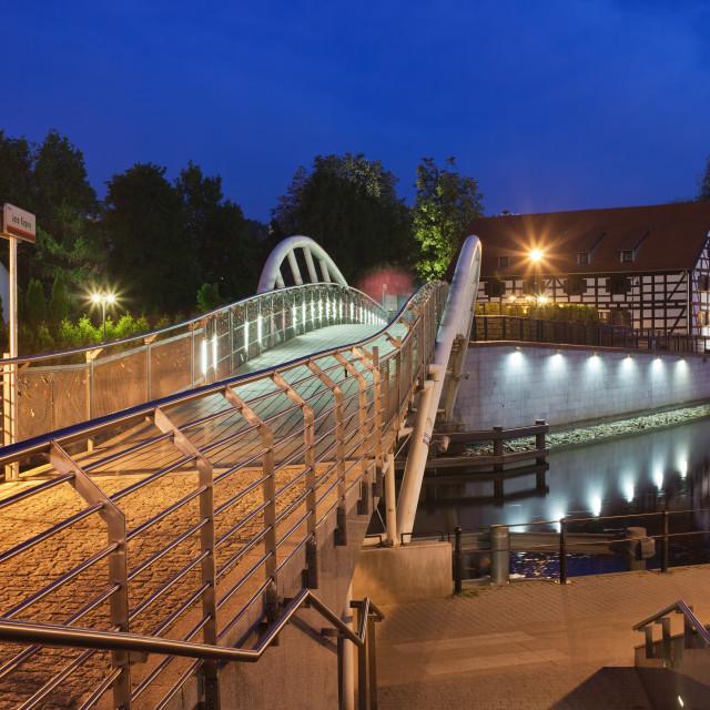 """City of Bydgoszcz by Night in Poland"" stock image"