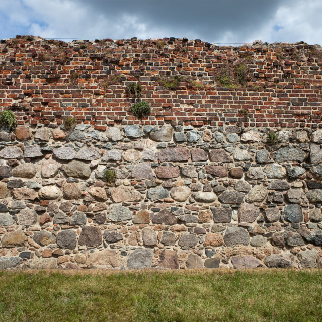 """""""Medieval Castle Wall Background"""" stock image"""