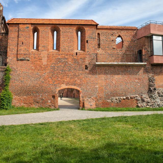 """Torun City Wall Fortification"" stock image"