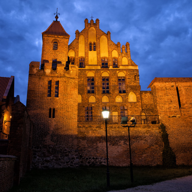 """""""Citizen Court by Night in Torun"""" stock image"""