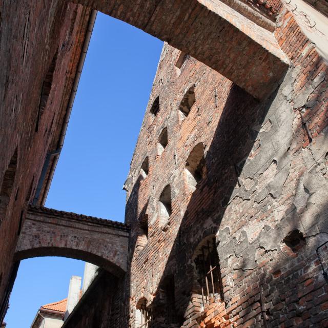 """Ciasna Street Old Buildings in Torun"" stock image"