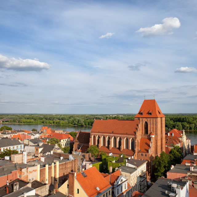 """City of Torun in Poland"" stock image"