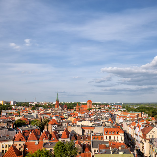 """Torun Old Town from Above in Poland"" stock image"