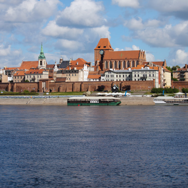 """City of Torun Skyline in Poland"" stock image"