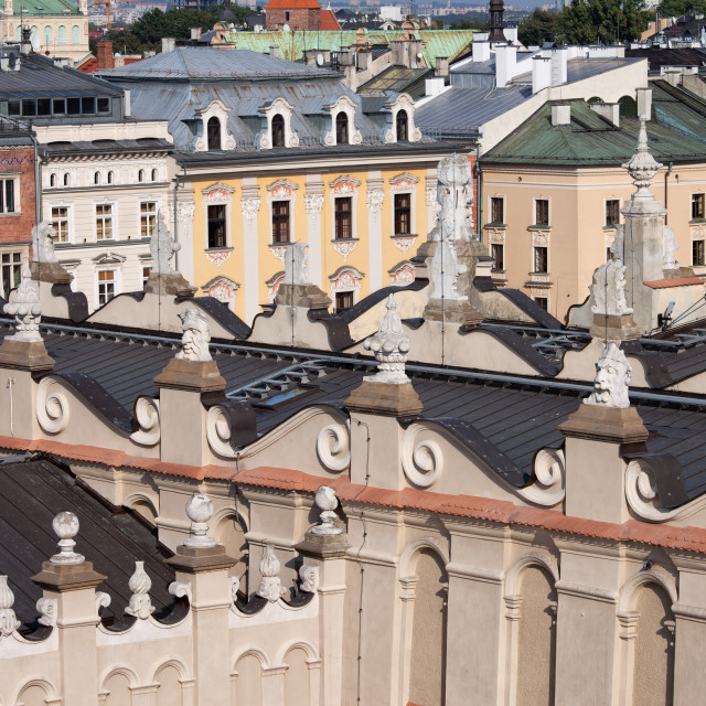 """Old Town of Krakow Historic Architecture"" stock image"