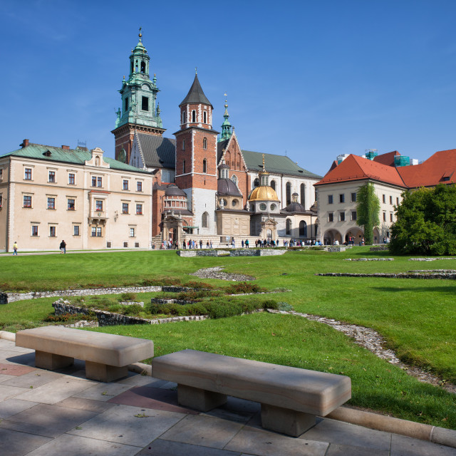 """Wawel Cathedral in Krakow"" stock image"