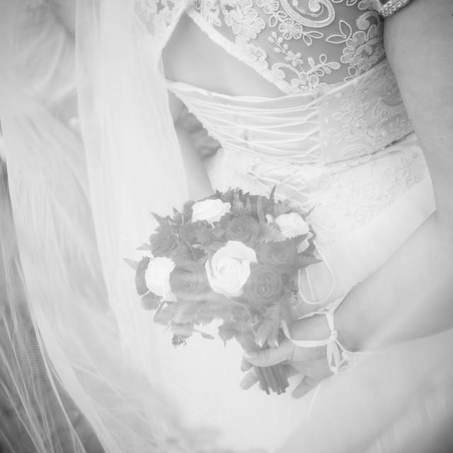 """Wedding bouquet. Bride's flowers"" stock image"
