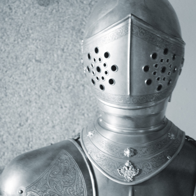 """Medieval suit of armour knight"" stock image"
