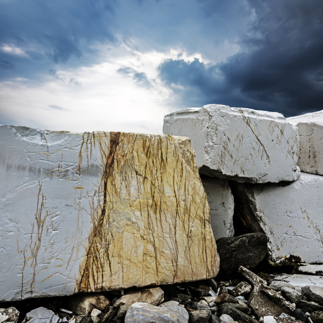"""Marble Slabs in Thassos"" stock image"