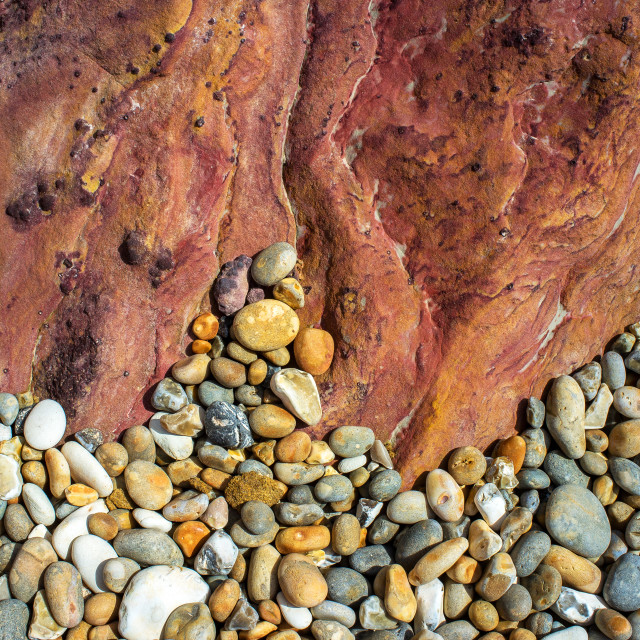 """""""Pebbles and Coloured Rock"""" stock image"""