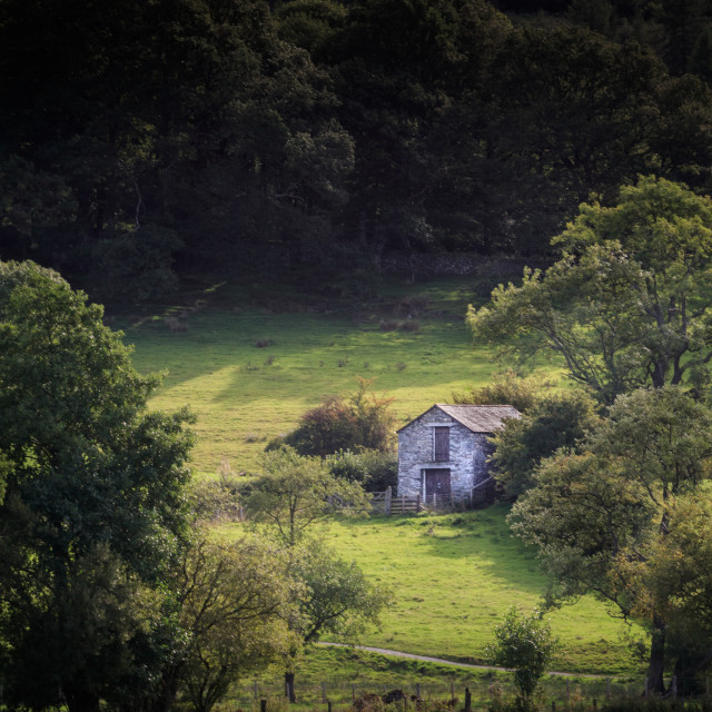 """The Old Barn"" stock image"