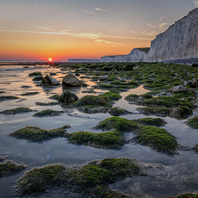 """Looking West at Birling Gap"" stock image"