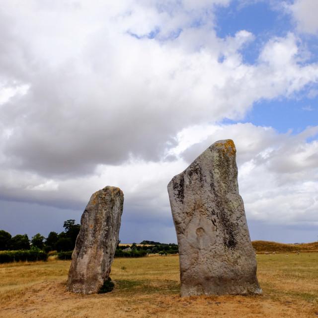 """Avebury Standing Stones"" stock image"