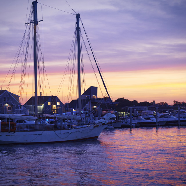 """""""Sunset in Cape Cod"""" stock image"""