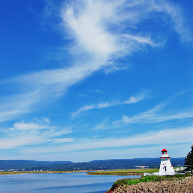 """""""Sky and lighthouse"""" stock image"""