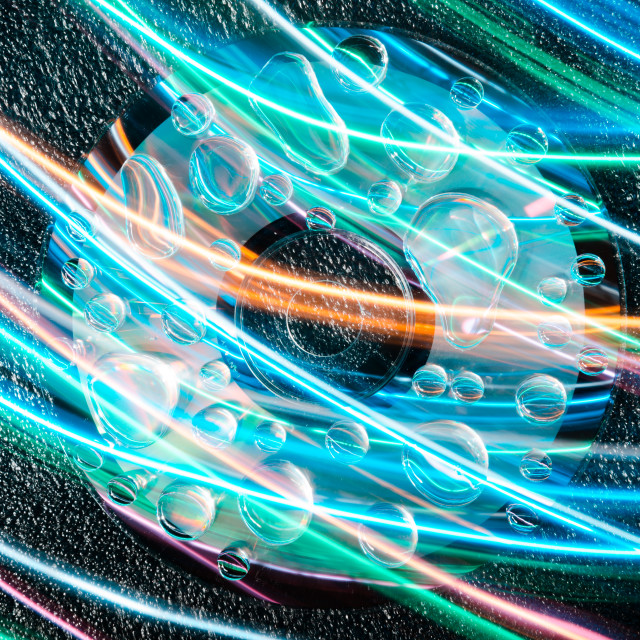 """""""Droplet light trail"""" stock image"""