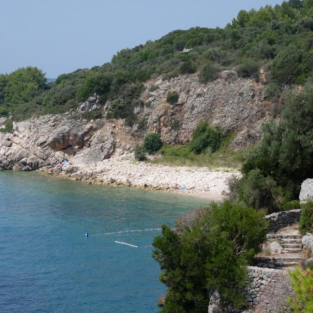 """Private Beach, Sun Gardens Hotel, Orasac"" stock image"