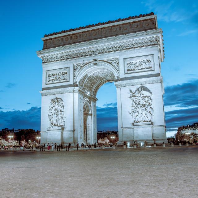 """Blue Hour at Paris"" stock image"