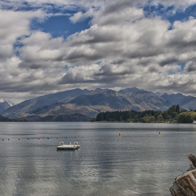 """Wakatipu lake in New Zealand"" stock image"