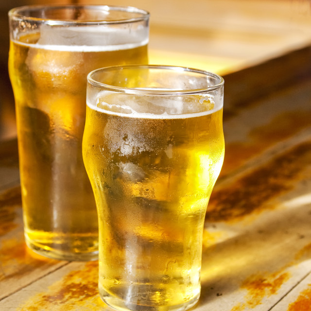 """""""Big and small beers"""" stock image"""