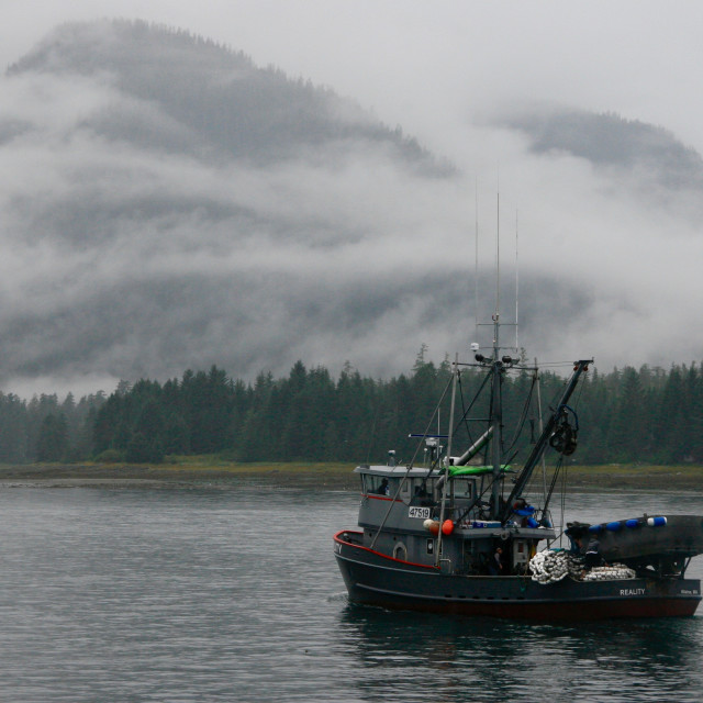 """""""A cold morning in Petersburg Alaska"""" stock image"""