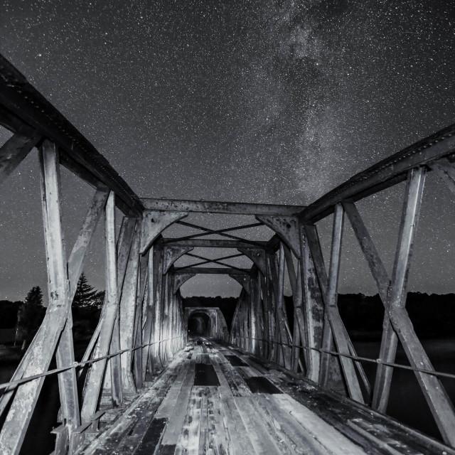 """""""Old Railway Bridge"""" stock image"""
