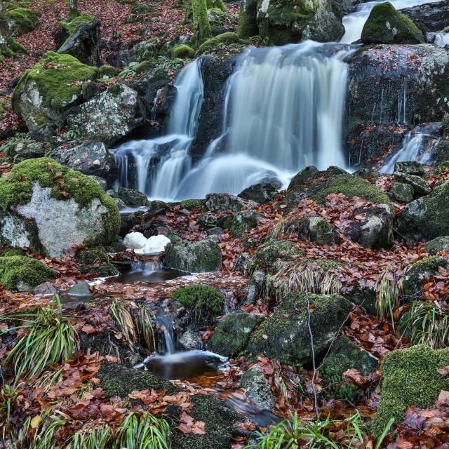 """Waterfall at Loch Ken"" stock image"