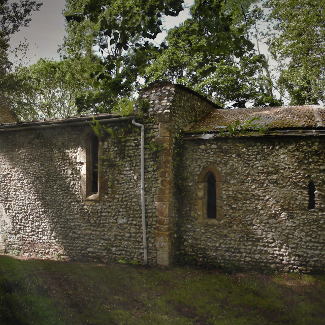 """""""Church of St Mary,Cockley Cley,Norfolk."""" stock image"""