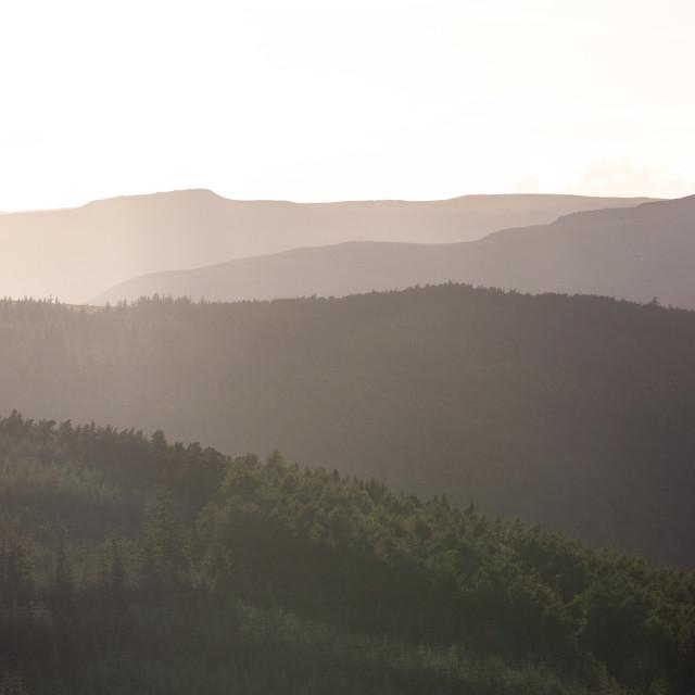 """Peak District Silhouettes"" stock image"