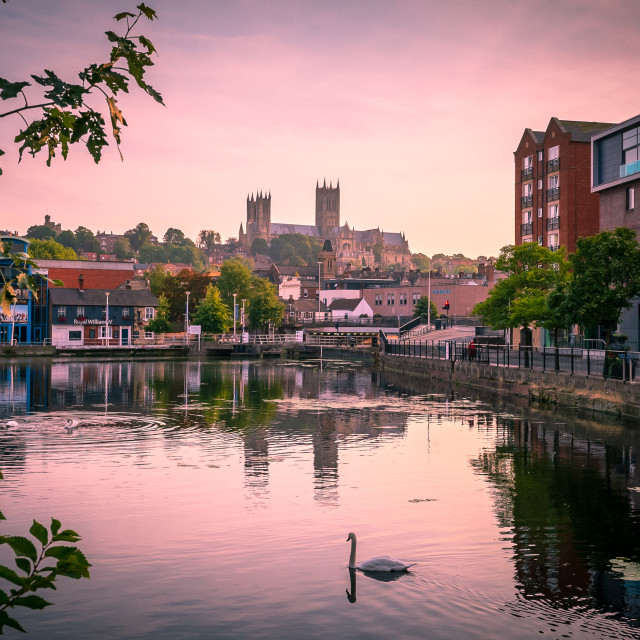 """Sunrise, Lincoln"" stock image"