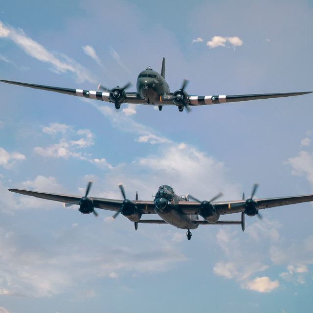 """Lancaster and Dakota in unison"" stock image"