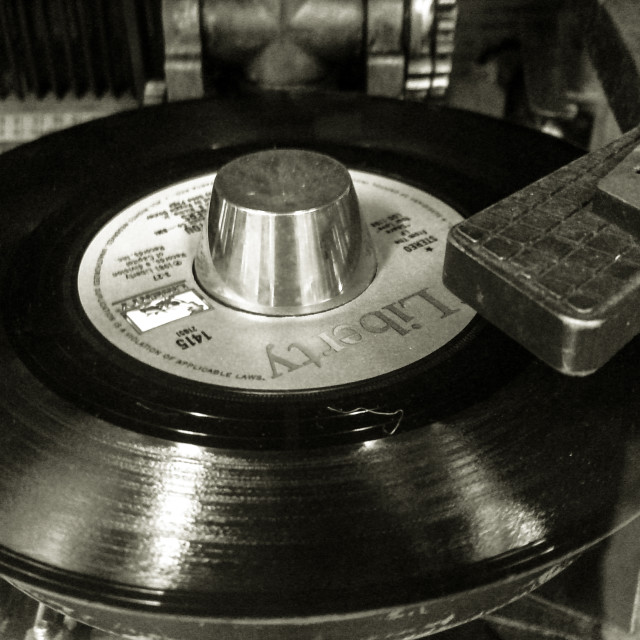"""Juke Box Record Player - Monochrome"" stock image"