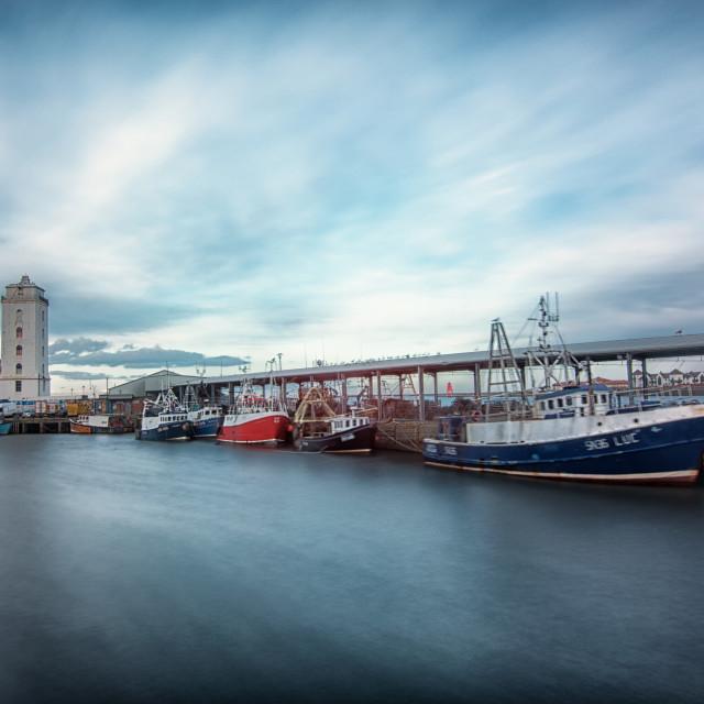 """North Shields Fish Quay"" stock image"