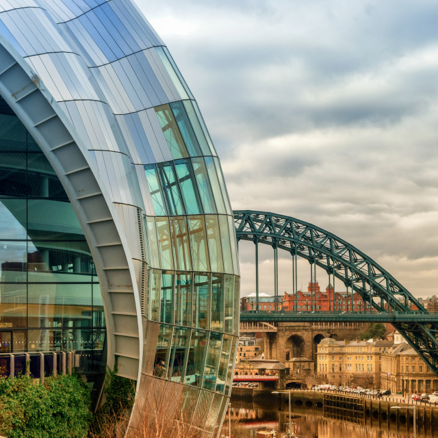 """Curves on the Quayside"" stock image"