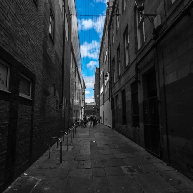 """""""Newcastle alleyway"""" stock image"""