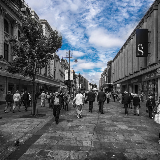 """Northumberland Street, Newcastle"" stock image"