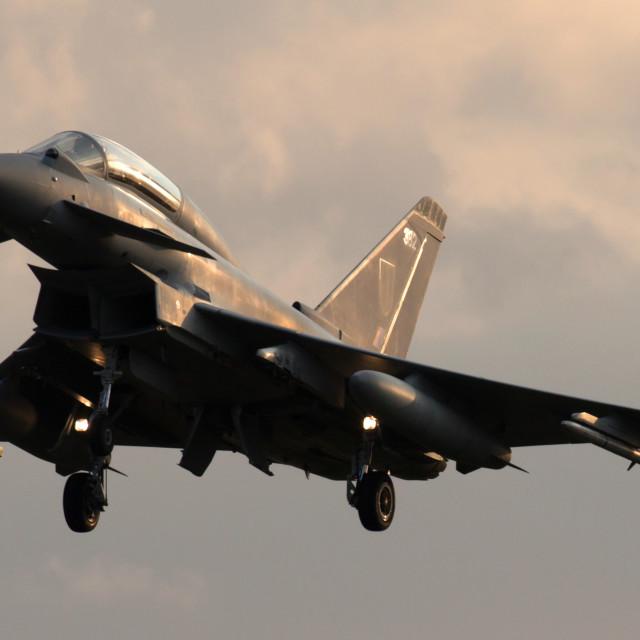"""""""4B9A0044 Typhoon T3 ZK382 180829 EGXC"""" stock image"""