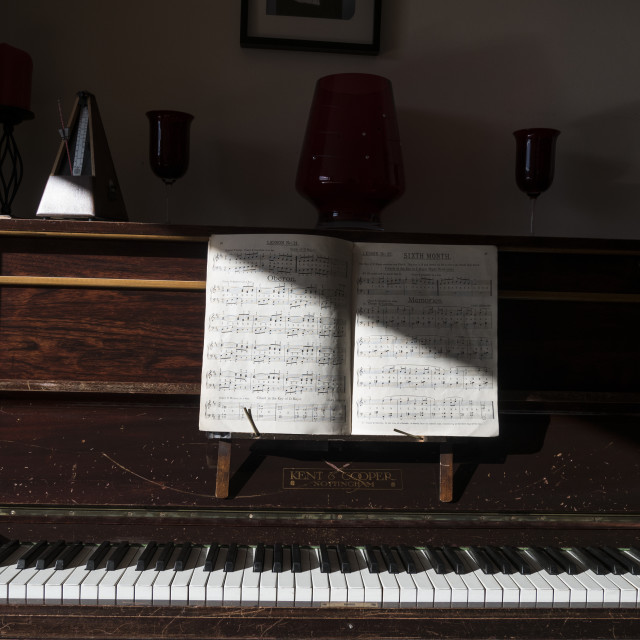 """Upright piano"" stock image"