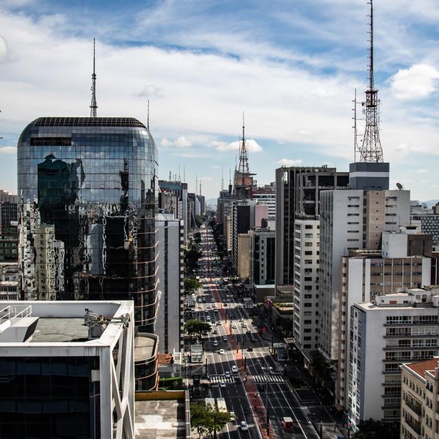 """Paulista Avenue, Sao Paulo"" stock image"