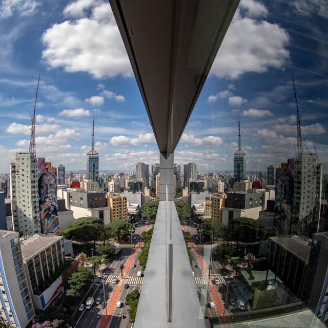 """Reflex of Paulista Avenue"" stock image"