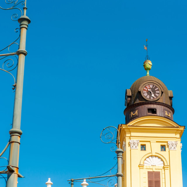 """""""Historic church on a sunny day in Debrecen, Hungary"""" stock image"""