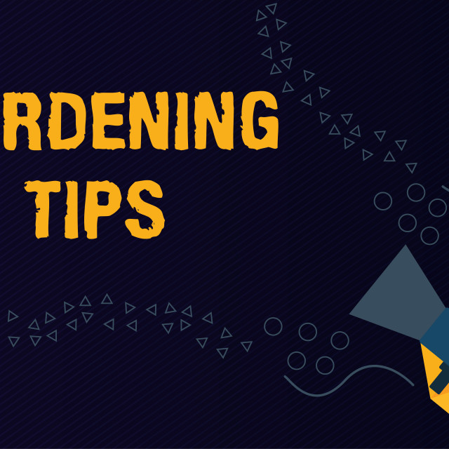"""""""Text sign showing Gardening Tips. Conceptual photo Proper Practices in..."""" stock image"""