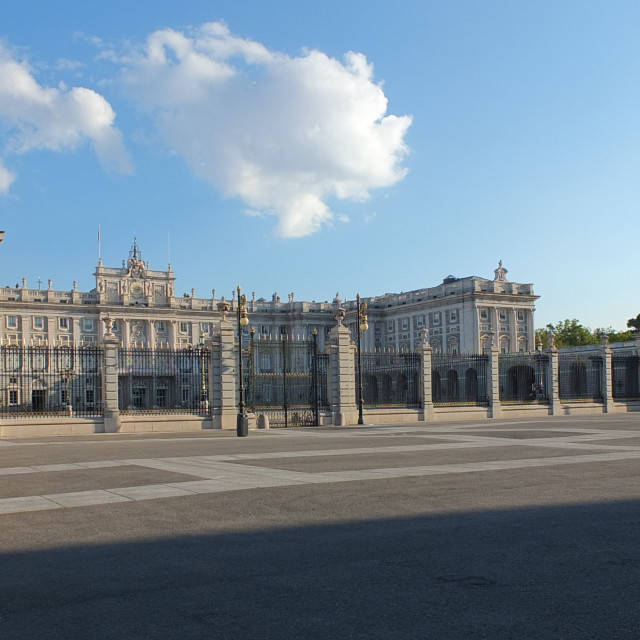 """The Royal Palace of Madrid"" stock image"