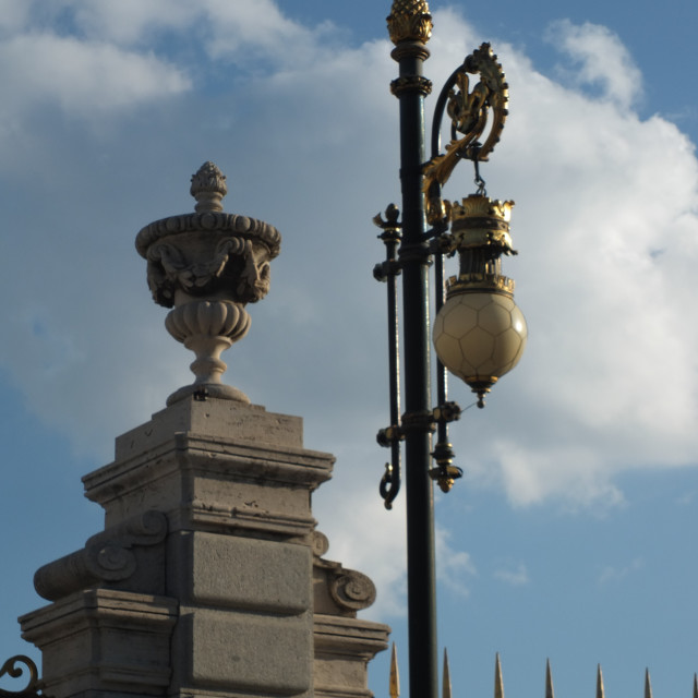 """Detail Of The Royal Palace In Madrid"" stock image"