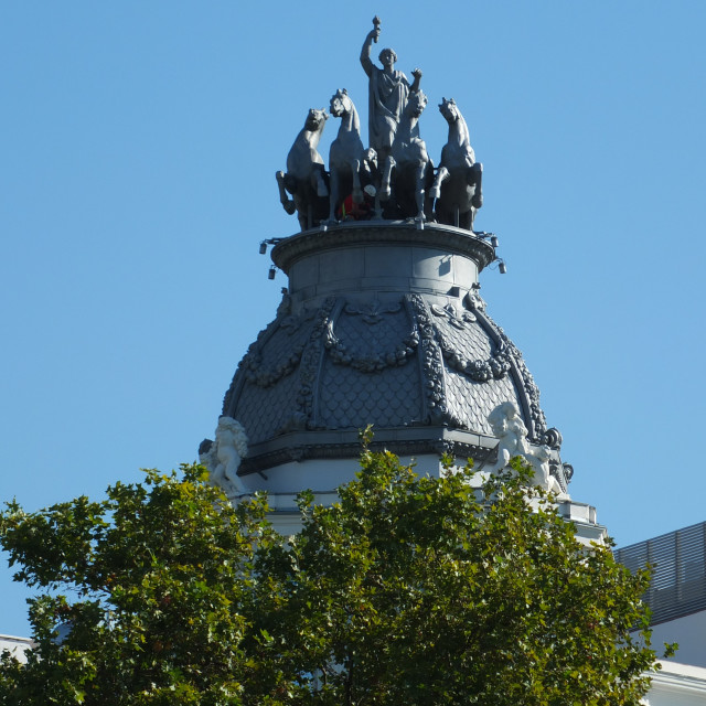 """Roof Top Dome Of Madrid"" stock image"