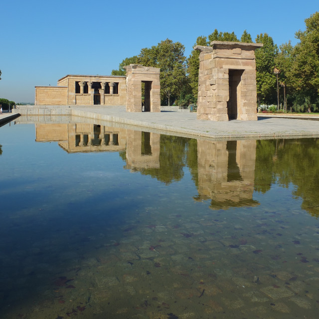 """Temple Debod Reflections"" stock image"