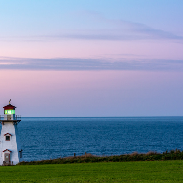 """""""Cape Tryon Lighthouse"""" stock image"""