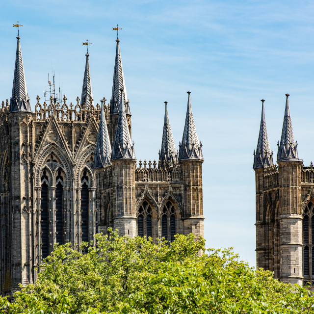 """Lincoln Cathedral"" stock image"